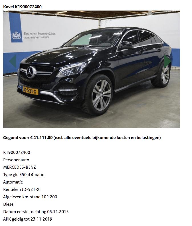 Mercedes GLE Domeinen