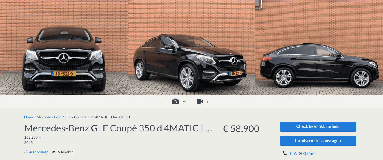 Mercedes GLE Te Koop